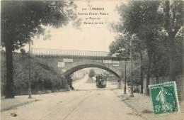 "CPA FRANCE 87 ""Limoges, Avenue Ernest Ruben Et Pont Du Chemin De Fer"". - Limoges"