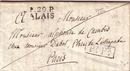 GARD - P.29.P. ALAIS - LE 16-9-1817 - VERSO TAXE 10 BIFFEE + TAXE 14 MANUSCRITE - LETTRE AVEC TRES LONG TEXTE POUR PARIS - Marcophilie (Lettres)