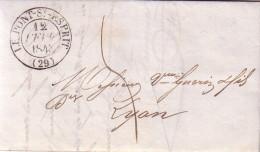 GARD - LE PONT ST ESPRIT - T13 12-2-1843 - TAXE MANUSCRITE 5 - LETTRE AVEC TEXTE. - Marcophilie (Lettres)