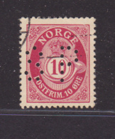 NORVEGE -  -Perforé-Perfin-Perforés-Perfins-  - - Norvège