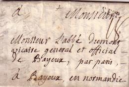 GARD - S.ESP. - PONT ST ESPRIT - LE 31-1-1761 - REGNE DE LOUIS XV - TAXE MANUSCRITE 18 - MARQUE LENAIN N°2. - Marcophilie (Lettres)
