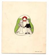 Maurice Baquet Jacqueline Figus Faire- Part Mariage 1944 - Boda