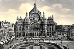 [DC2792] CPA - BELGIO - ANVERS - ANTWERPEN - GARE CENTRALE - ANIMATA - Non Viaggiata - Old Postcard - Antwerpen