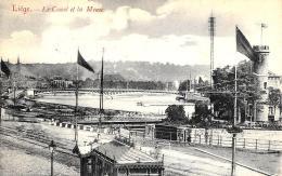 [DC2793] CPA - BELGIO - LIEGE - LE CANAL ET LA MEUSE - Viaggiata 1907 - Old Postcard - Liège