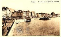 [DC2794] CPA - BELGIO - LIEGE - LA MEUSE AU QUAI DE LA GOFFE - Non Viaggiata - Old Postcard - Liège