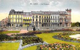 [DC2795] CPA - BELGIO - LIEGE - LES TERRASSES - Non Viaggiata - Old Postcard - Liège