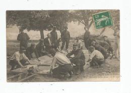 Volet Photographique D´une Cp , Militaria , Camp De Tir De CHENOVE , Le Lavoir De SAINTE ANNE , Voyagée - Casernes