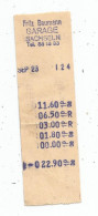 Facture , Ticket De Caisse , Suisse ,  Fritz Bauman GARAGE , SACHSELN - Suisse
