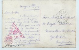 F.P.O. 2.W.R. On PC - Postmark Collection