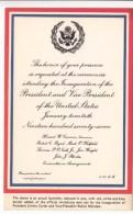 Facsimile Of Formal Invitation, The Inauguration Of President Jimmy Carter, Unused Postcard [17344] - Events