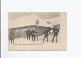 GRUSS VON DER SCHLUCHT GRENSE (1100 M U D M)  1904 - Douane