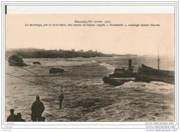 """BIARRITZ,,, 1930,,,LE SAUVETAGE Par Le VA Et VIENT, DES MARINS Du VAPEUR ANGLAIS """" KNEBWORTH """"  NAUFRAGE ,  Rare,,,,, TB - Handel"""