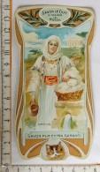 Chromo Calendrier 1905 /  SAVON LE CHAT à Travers Le Monde / Grèce / Femme Lingère / Style Art Nouveau - Trade Cards