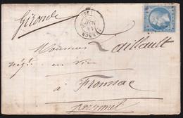 France - N°22 Sur LaC Obl. 1868 Vernon Pour Fronsac Libourne - 1849-1876: Classic Period