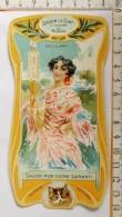 Chromo Calendrier 1905 /  SAVON LE CHAT à Travers Le Monde / Sévillana Séville Espagne Femme Lingère / Style Art Nouveau - Trade Cards