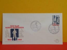 Néderland FDC, 300 Jaar Korps Mariniers 1665/1965 - 10 Déc 1965 - Pays-Bas FDC, 300 Ans Corps De Marine 1665/1965 - FDC