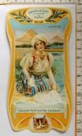 Chromo Calendrier 1905 /  SAVON LE CHAT à Travers Le Monde / Egypte / Pyramide / Femme Lingère / Style Art Nouveau - Trade Cards