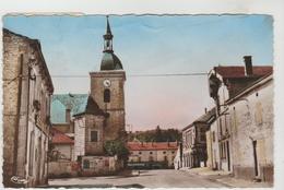 CPSM DOULAINCOURT (Haute Marne) - L´Eglise, La Mairie, La Poste, L´Hôtel De Paris - Doulaincourt