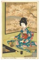 """Cpa Japon / Japan Tea As A Peaceful Drink """" Chanoyu """" ( Cérémonie Du Thé / Geisha ) - Japon"""