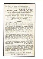 1003 JOSEPH DEGROOTE HALUIN 1868 + LAUWE 1937 - Imágenes Religiosas