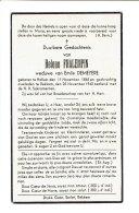 1006 HELENE FHALEMPIN HALUIN 1965 + REKKEM 1940 - Imágenes Religiosas