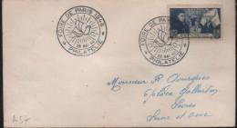 Lettre Cachet Illustré (bateau) Foire De Parie 1946 * Philatélie * 28 Mai 46 - Gedenkstempel