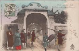 INDOCHINE VIET NAM  CACHET QUINHONE 1910+PAQUEBOT  SUR CPA  MANDARIN HUE EN PALANQUIN  Réf  3013 - Touva