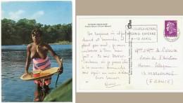 Guyane Française, Femme Bosch ( Fleuve Maroni ), Seins Nus - Cachet, Flamme Congrès Médical Cayenne - Autres