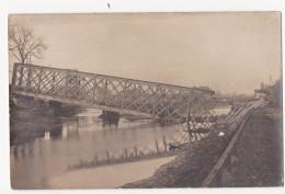 Kortrijk: Railway Bridge Over Canal. (Fotokaart) - Kortrijk