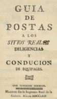 """EBook: """"Guía De Postas A Los Sitios Reales, Diligencias Y Conducción De Equipajes"""" - Sin Clasificación"""
