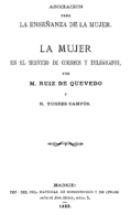 """EBook: """"La Mujer En El Servicio De Correos Y Telégrafos"""" - Letteratura"""