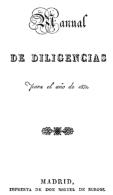 """EBook: """"Manual De Diligencias"""". 1831 - Literatura"""