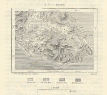 MYTILENE  MITILINI & Surroundings Lesbos Lesbo Aegean Sea Greece   - 1891 Italian Map - Monde