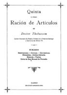 """EBook: """"Quinta Ración De Artículos"""" Del Dr. Thebussem - Letteratura"""