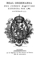 """EBook: """"Real Ordenanza De Correo Marítimo"""" - Literatura"""