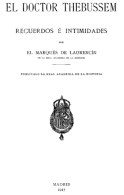 """EBook: """"Recuerdos E Intimidades"""" Del Dr. Thebussem - Literatura"""