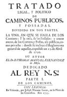 """EBook: """"Tratado De Caminos Públicos"""" De 1775 - Literatura"""