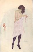 ARTIST SIGNED: RAPHAEL KIRCHNER ~ LE PETIT INDISCRET ~ THE SMALL INDISCRETION - Kirchner, Raphael