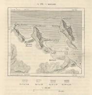 MASCATE Masqat & Surroundings Oman  - 1891 Italian Map - Mondo