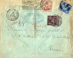 TB 1007 - LSC - Lettre Chargée E. BRILLARD Notaire MP SENS DE BRETAGNE Pour RENNES - Marcophilie (Lettres)