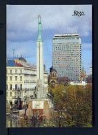 LATVIA  -  Riga  Monument To Liberty  Unused Postcard - Latvia