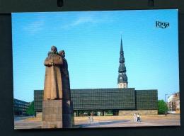 LATVIA  -  Riga  Museum To The Red Riflemen  Unused Postcard - Latvia