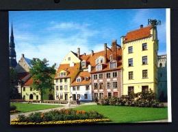 LATVIA  -  Riga  Square Near The Philharmonic Concert Hall  Unused Postcard - Latvia