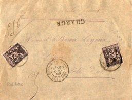TB 1011 - LSC - Lettre Chargée MP SEMUR EN AUXOIS Pour DIJON - Marcophilie (Lettres)