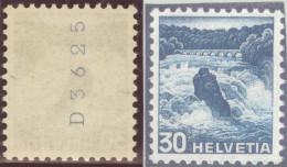 Schweiz Landschaft 1948 Zu.# 289 RM Rollenmarke ** Postfrisch - Schweiz