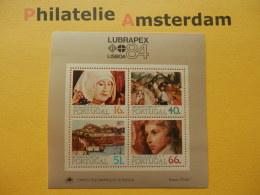 Portugal 1984, LUBRAPEX 84 / PAINTINGS ARTS: Mi 1631-34, Bl. 44, ** - Blokken & Velletjes