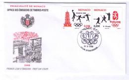 FDC MONACO 2008 OLYMPIC GAMES FENCING ESCRIME FECHTEN YENNIS BASKETT BASEBALL SHOOTING - Sommer 2008: Peking