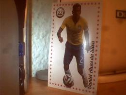 3 CARD FOOTBALL ZLATAN IBRAHIMOVIC;DIEGO RIBAS;DANIEL ALVES DA SILVA - Bierviltjes