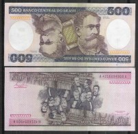 10 BRAZIL BANKNOTES LOT C161 500 CRUZEIROS GALVEAS/PASTORE1984 UNC - Brazil