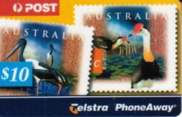 AUSTRALIA $10 PA BIRD STAMP SOLD ONLY IN FOLDER !! CODE: 32PA READ DESCRIPTION !! - Australia